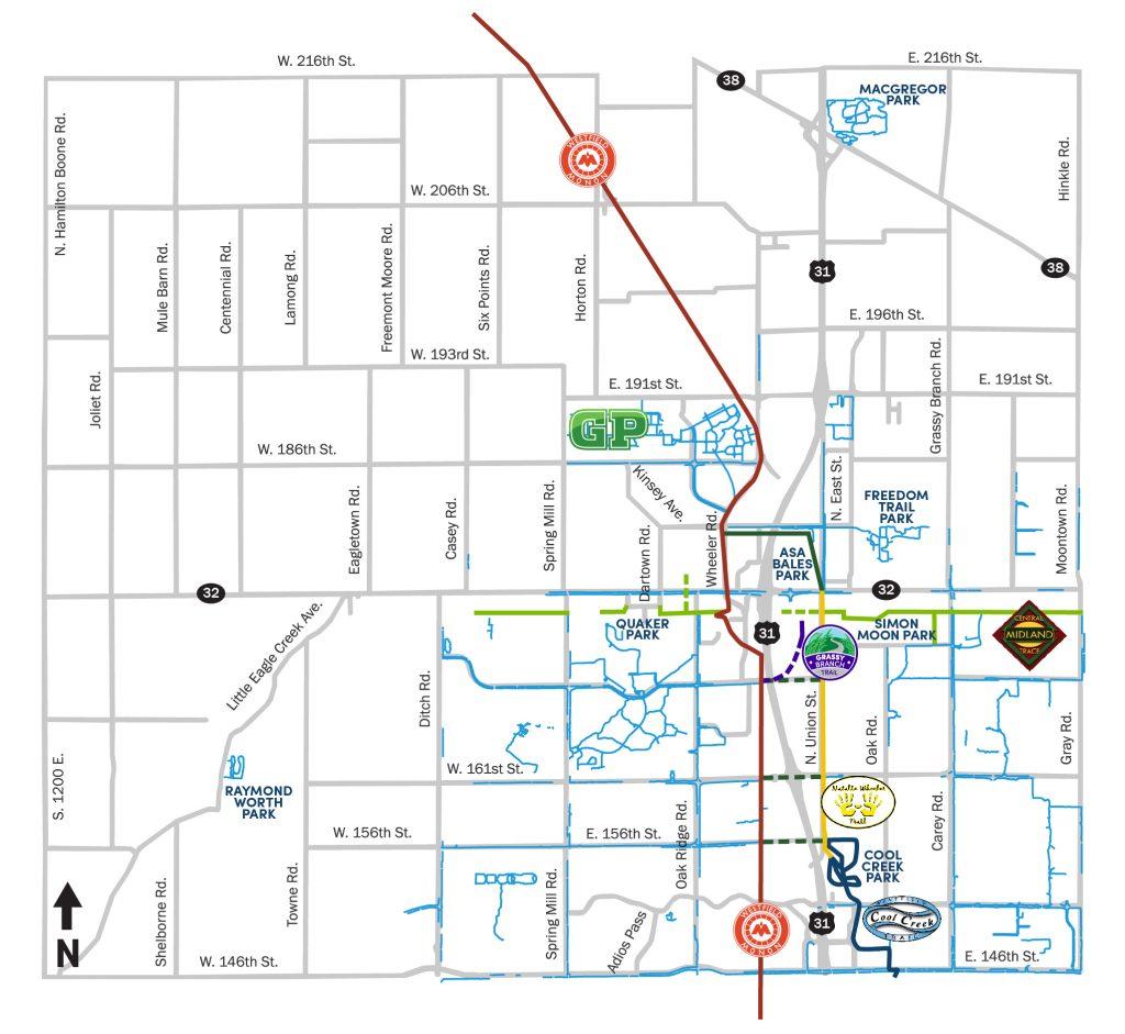 Westfield Trail Map